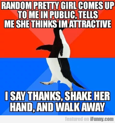Random Pretty Girl Comes Up To Me In Public...