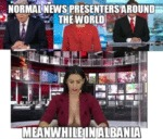Normal News Presenters Around The World...