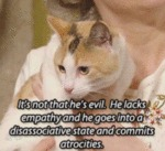 It's Not That He's Evil. He Lacks Empathy And...