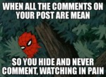 When All The Comments On Your Post Are Mean...