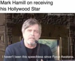 Mark Hamill On Receiving His Hollywood Star