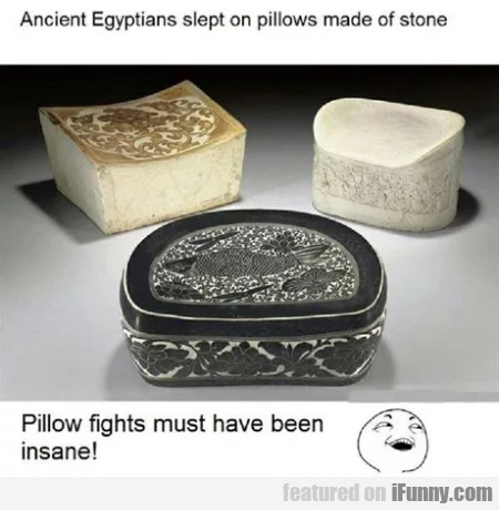 Ancient Egyptians Slept On Pillows Made Of Stone