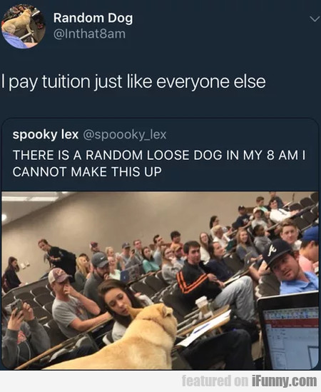 I Pay Tuition Just Like Everyone Else...