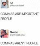 Commas Are Important People - Commas Aren't People