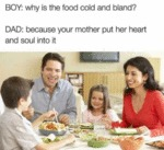 Boy: Why Is The Food Cold And Bland?