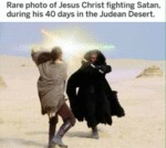 Rare Photo Of Jesus Christ Fighting Satan...