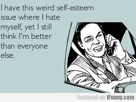 I Have This Weird Self-esteem Issue Where I Hate..