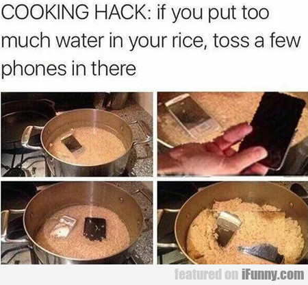 Cooking Hack - If You Put Too Much Water In...