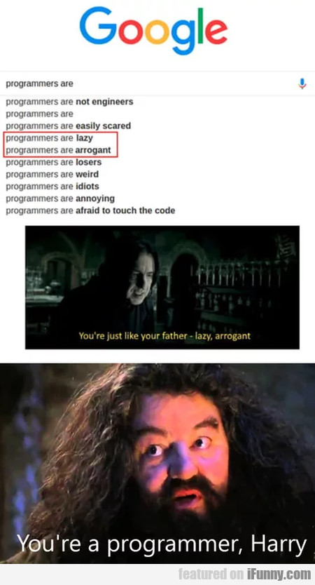 Programmers Are Lazy - Programmers Are Arrogant...