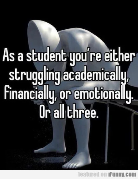As A Student You're Either Struggling...