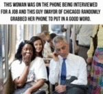 This Woman Was On The Phone Being Interviewed...