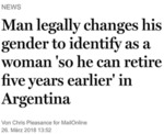 Man Legally Changes His Gender To Identify As A...