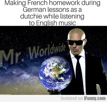 Making French homework during German lessons...