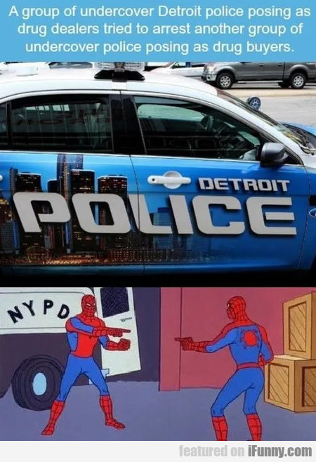 A Group Of Undercover Detroit Police Posing As...