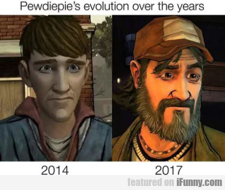 Pewdiepie's Evolution Over The Years - 2014 - 2017
