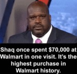 Shaq Once Spent $70,000 At Walmart In One Visit...