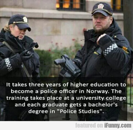 It takes three years of higher education to...