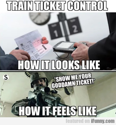 Train Ticket Control - How It Looks Like...