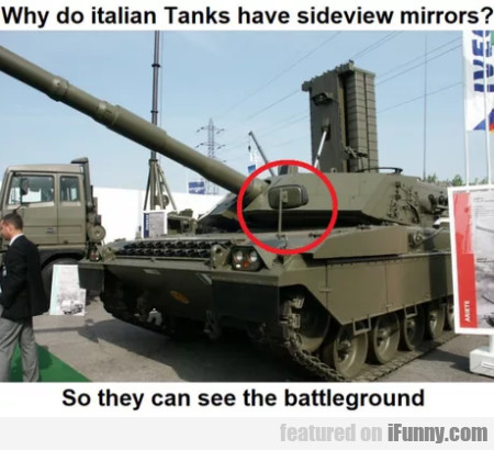 Why Do Italian Tanks Have Sideview Mirrors...