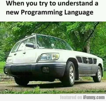 When You Try To Understand A New Programming...