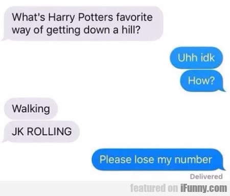 What's Harry Potters Favorite Way Of Getting...