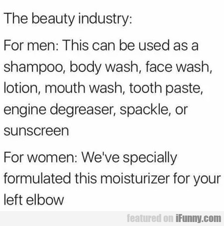 The Beauty Industry - For Me - This Can Be Used...