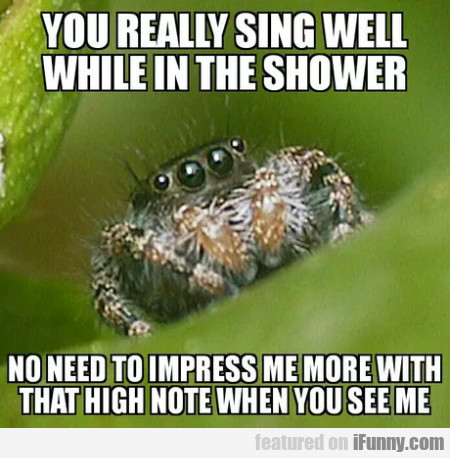 You Really Sing Well While In The Shower...