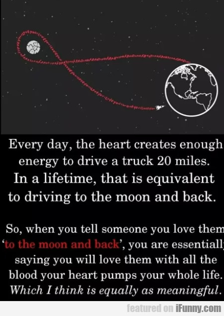 Every Day The Heart Creates Enough Energy To...