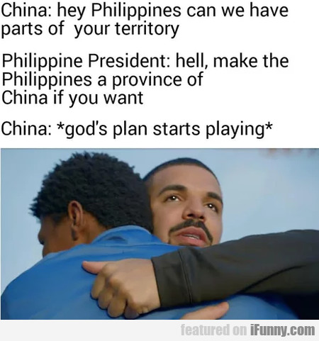 China: Hey Philippines Can We Have Parts Of Your..