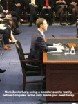 Mark Zuckerberg Using A Booster Seat To...