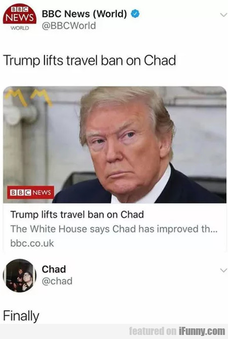 Trump Lifts Travel Ban On Chad