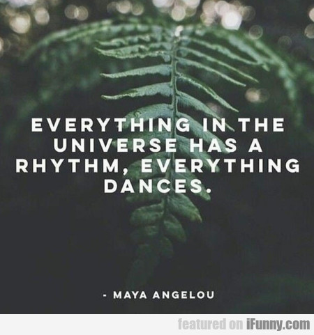 Everything In The Universe Has A Rhythm...
