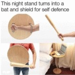 This Night Stand Turns Into A Bat And Shield For..