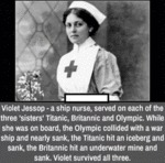 Violet Jessop - A Ship Nurse, Served On Each...