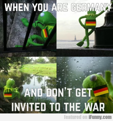 When You Are Germany - And Don't Get Invited...