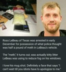 Ross Lebeau Of Texas Was Arrested In Early...