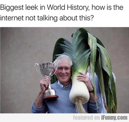 Biggest Leek In The World History, How Is The...