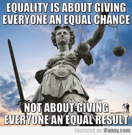 Equality Is About Giving Everyone An Equal...