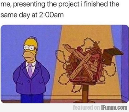Me, Presenting The Project I Finished The Same...