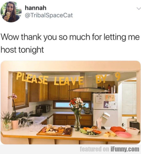 Wow Thank You So Much For Letting Me Host...