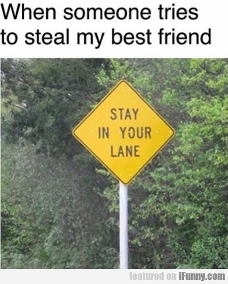 When Someone Tries To Steal My Best Friend