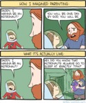 How I Imagined Parenting. Daddy, I Wanna Be An...