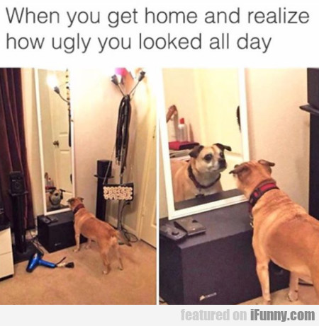 When You Get Home And Realize How Ugly You Looked