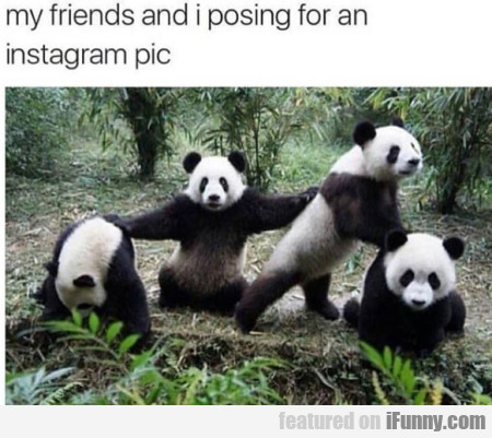 My Friends And I Posing For An Instagram Pic...