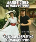 A Rare Picture Of Mary Poppins And A Girl...