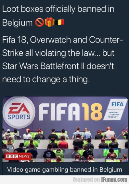 Loot Boxes Officially Banned In Belgium