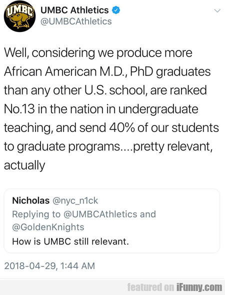 Well, Considering We Produce More African American