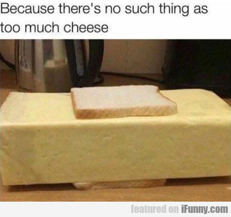 Because There's No Such Thing As Too Much Cheese..