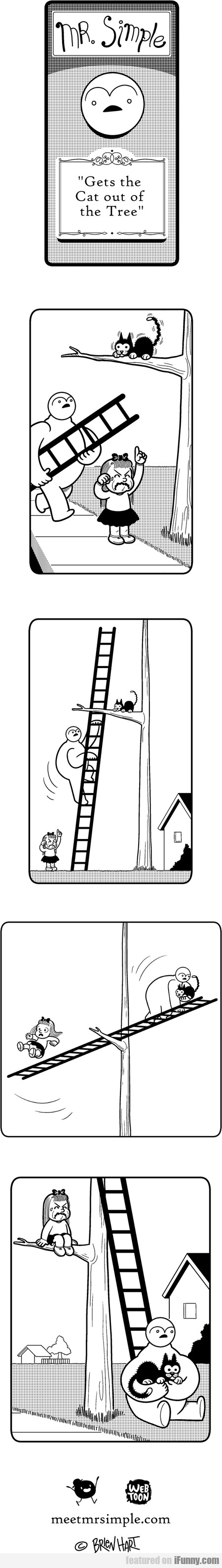 Mr. Simple Gets the Cat Out of the Tree