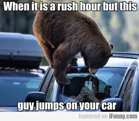 When It Is A Rush Hour But This Guy Jumps On...